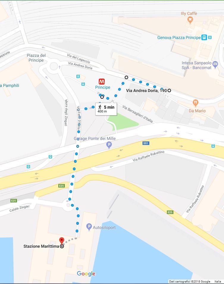 Genova - Percorso pedonale da Piazza Principe a Stazione Marittima